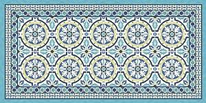 Vilber Grand Chef Tanger Tapis, Vinyle, Bleu, 75x 180x 0.2cm