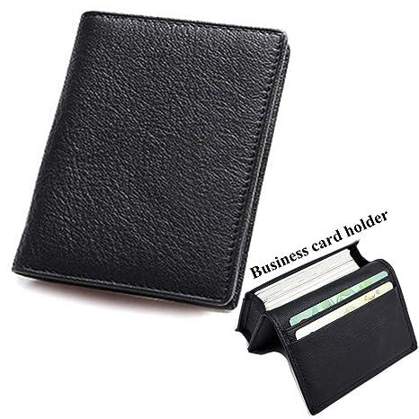 lucstar tarjetas de visita titular caso para mujeres hombres personalizado gran capacidad Organizador pequeño portátil cartera