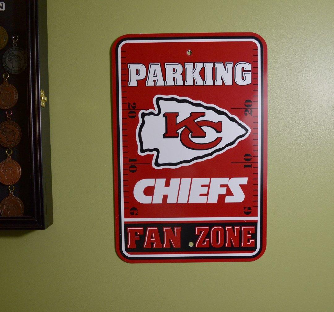 Fremont Die Official National Football League Fan Shop Authentic NFL Parking Sign Kansas City Chiefs