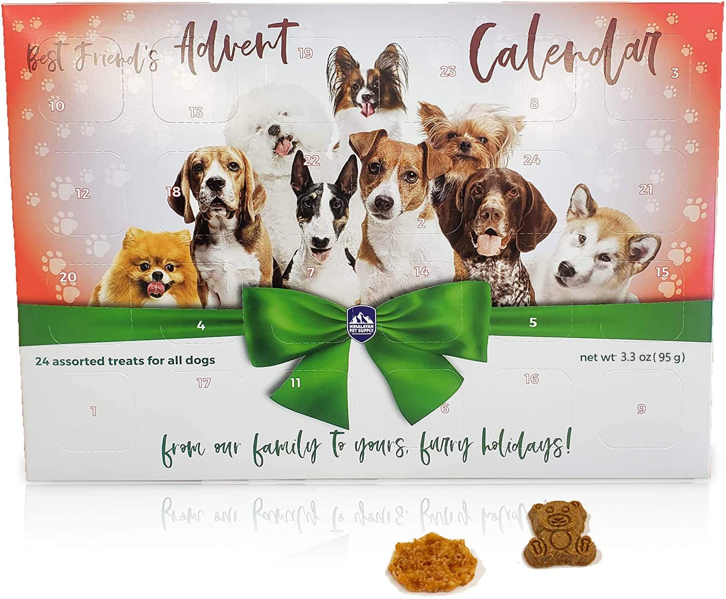 Himalayan Pet Supply Best Friend's Advent Calendar   24 Unique Treats for All Dogs