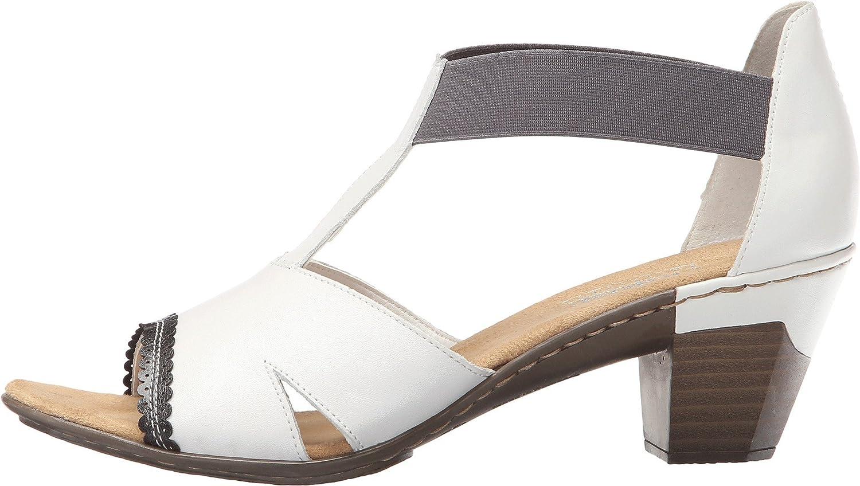 Amazon.com | Rieker Women's 67388 Aileen 88 White/Dust/Bianco Sandal 38 (US  Women's 7-7.5) M | Sandals