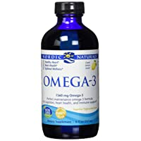 Nordic Naturals Omega-3 Liquid - Aids in Cognition, Heart Health, and Immune Support, Lemon Flavor, 8 Ounces