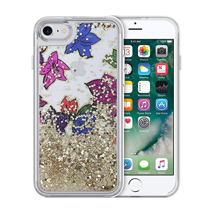 detailed look efc85 51571 Vera Bradley Glitter Flurry Case for iPhone 8 & iPhone 7 - Falling Flowers  Multi/Gold Foil/Gold Glitter