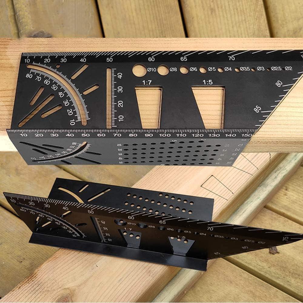 Multifunktions-Holzbearbeitungswerkzeuge Aluminiu #LY 3D-Gehrungswinkel-Lineal