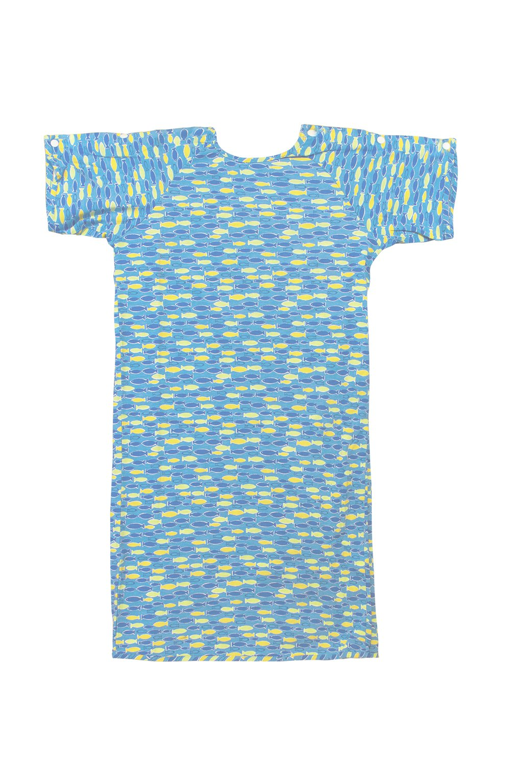 Karen Neuburger Pediatric Iv Gown with Snap Sleeves and Tie Back - Flame Resistant (X-Small Light Blue)