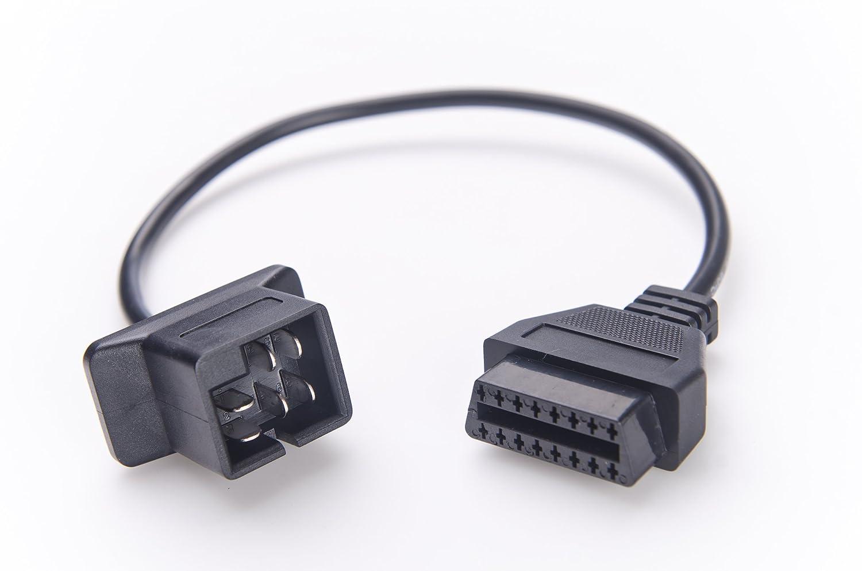 Chrysler 6-pin OBD2 Adapter - Diagnose Fault Code DTC Reader OBD OBD1 OBDII  Adaptor - Dodge Jeep