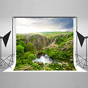 offer discounts uk store detailed pictures Kate 2.5 x 2.5 m Photographie Toile de fond vert de montagne ...