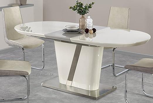Conjunto mesa a comedor ovalada extensible – L: 160 ÷ 200 cm x P ...