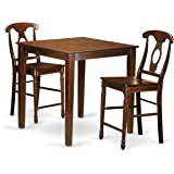 Crosley 3 Piece Pub Dining Set With Tapered Leg And School House