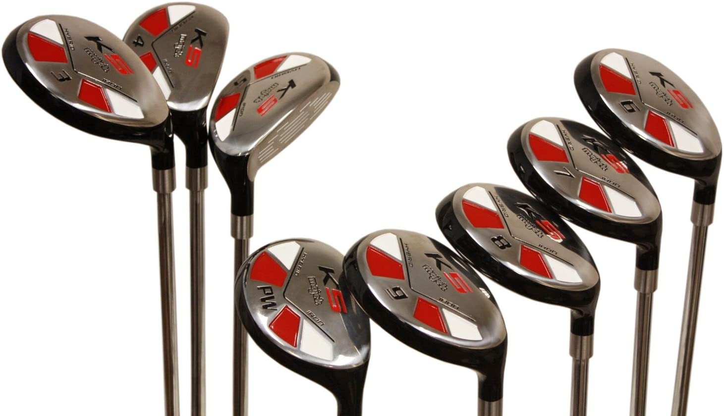 Tall Senior Golf Hybrids Big 1 Longer Than Standard Length Plus One Inch Longer Set All Complete Full Set, Which Includes 3, 4, 5, 6, 7, 8, 9, Pw Senior Flex Right Handed New Rescue Utility A Flex Club