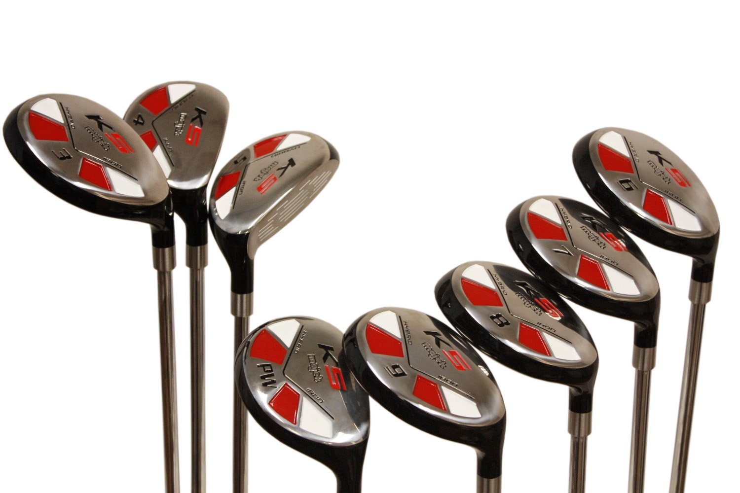 """Tall Senior Golf Hybrids Big +1'' Longer Than Standard Length (Plus One Inch Longer) Set All Complete Full Set, Which Includes: #3, 4, 5, 6, 7, 8, 9, Pw Senior Flex Right Handed New Rescue Utility """"A"""" Flex Club"""