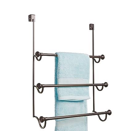 Interdesign York Over The Shower Door Towel Rack For Bathroom
