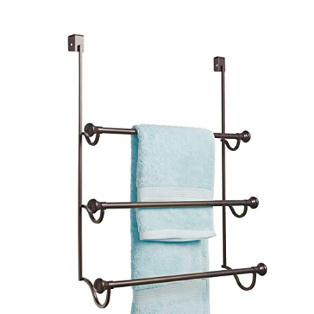 Interdesign York Over The Shower Door Towel Rack For Bathroom