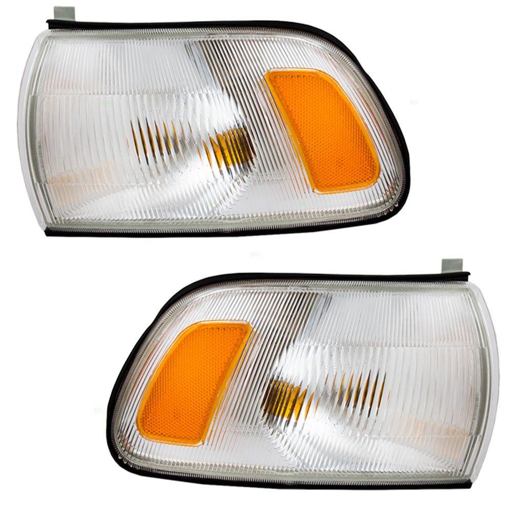 Driver and Passenger Park Signal Corner Marker Lights Lamps Lenses Replacement for Toyota Van 81520-95D00 81510-95D00 AutoAndArt