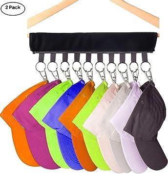 2 Pack Cap Organizer Hanger, Tenedor de la gorra de béisbol 10 ...