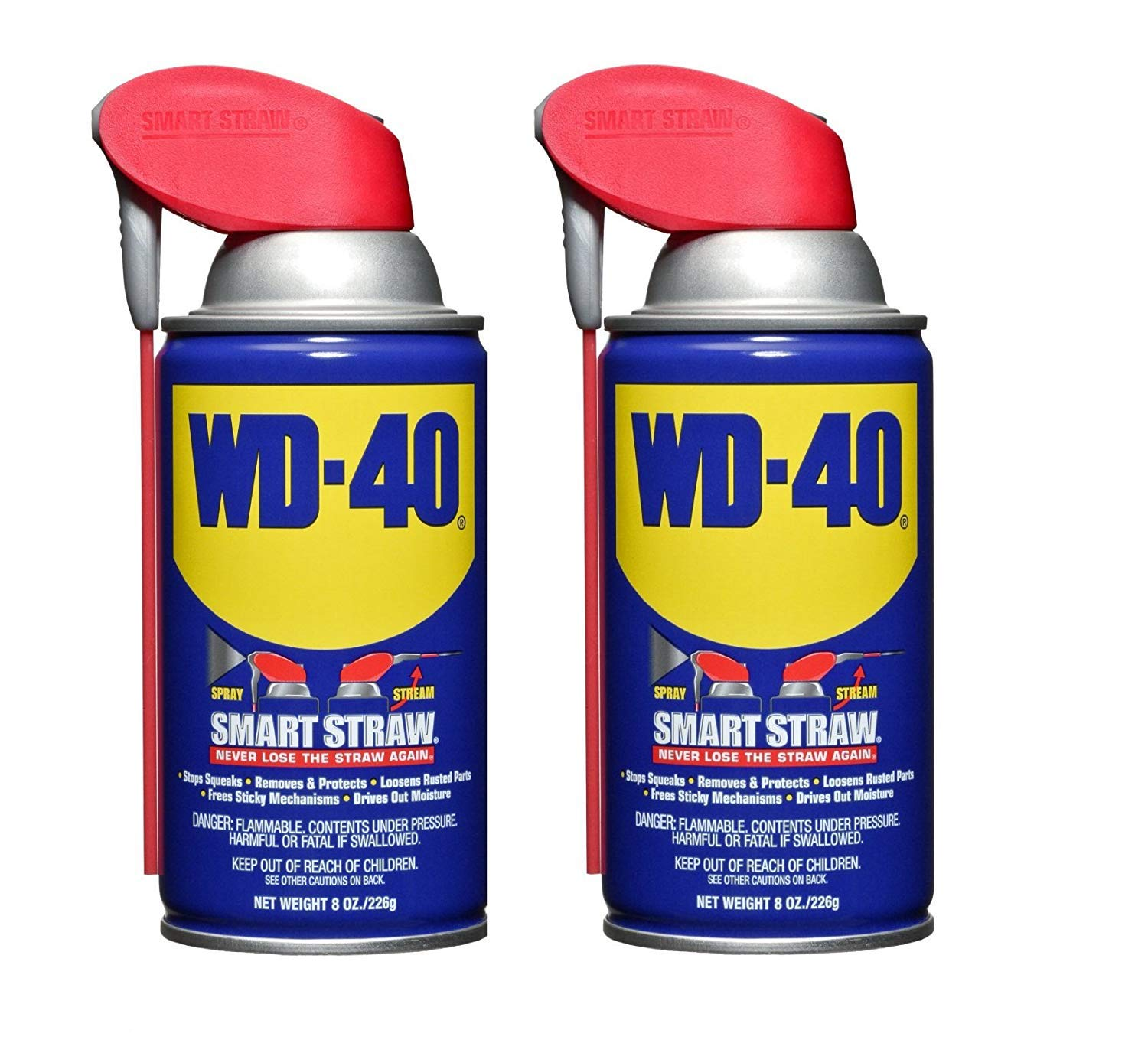 WD-40 110057 Multi-Use Product Spray with Smart Straw, 8 oz. (Pack of 2) by WD-40 Company