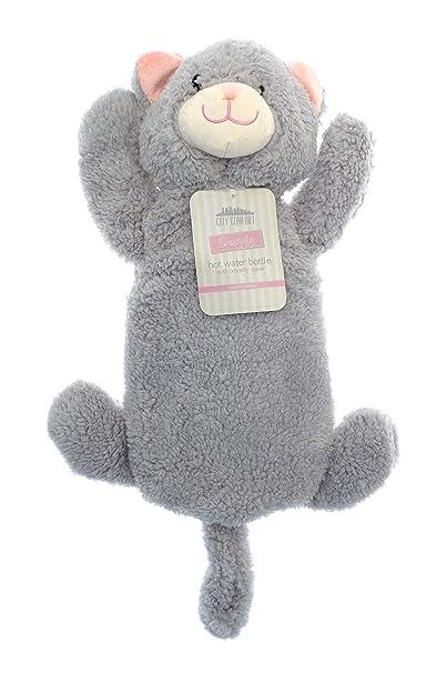 Wärmflasche mit Einhorn Mops Pinguin Affe Plüsch Super Soft Cover Premium Naturkautschuk 1 Liter Hot Water Bag - hilft Wärme