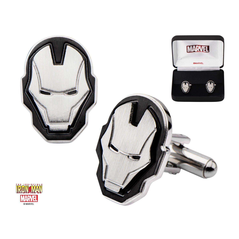 Men's Marvel Stainless Steel Iron Man Face Cufflinks by Marvel