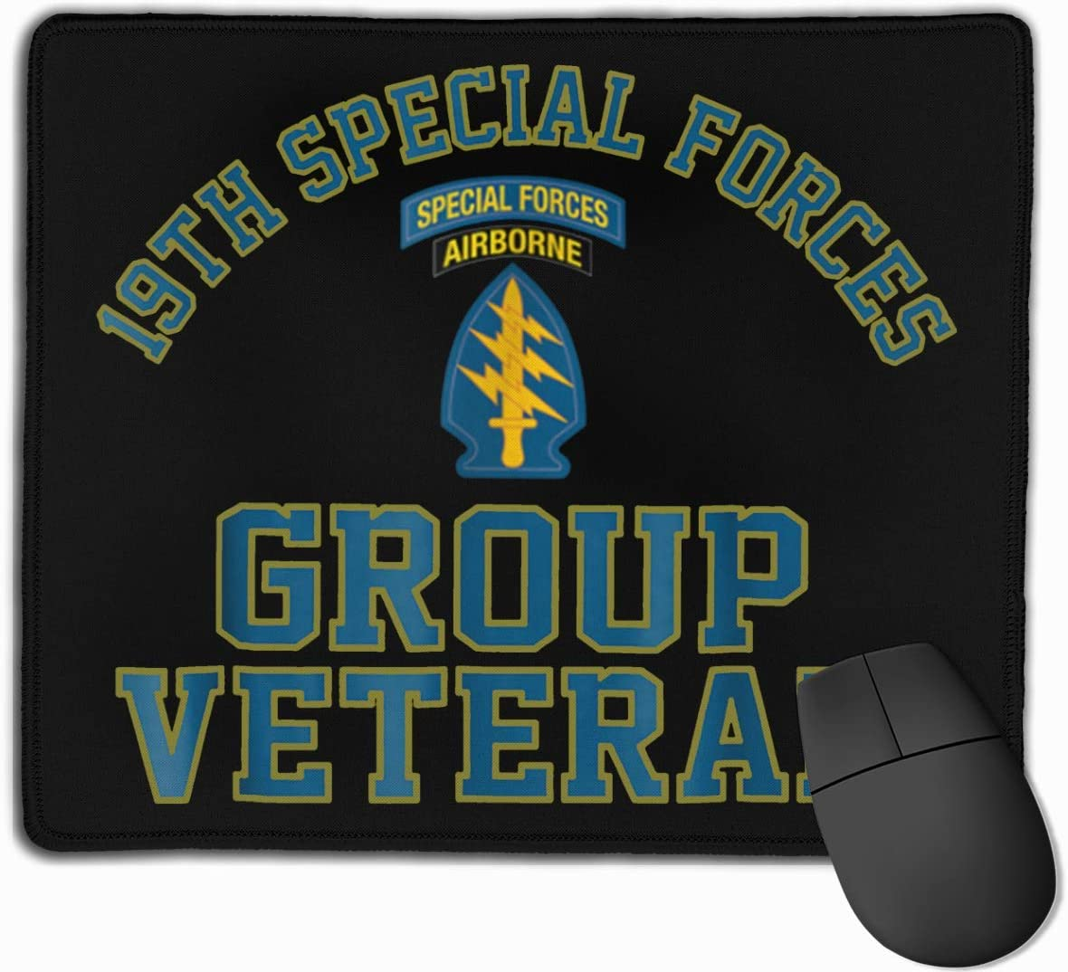 19th Special Forces Group SFG Veteran Mouse Pads Non-Slip Gaming Mouse Pad Mousepad