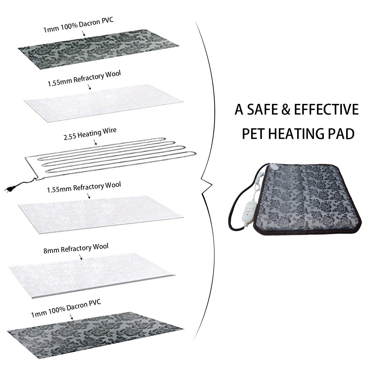 amazon com zikke electric comfortable pet heating pad indoor pet rh amazon com