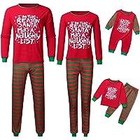 LANSKIRT Unisex Pijamas Navidad Familia para Papá Mamá y Bebe Regalo Estampado de Navidad Manga Larga Tops y Pantalones…