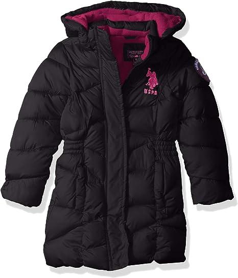 U.S Girls Mid Length Heavyweight Polar Fleece Lining Puffer Jacket Polo Assn
