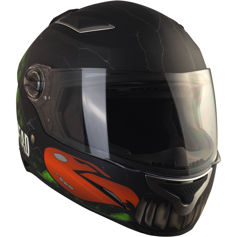 55-56 cm Motorradhelm Mit Sonnenblende Gr/ö/ße S Integral-Helm In Schwarz /& Gr/ün Broken Head Broken Skull