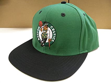 569c3e6c Image Unavailable. Image not available for. Color: NBA Boston Celtics Green  Black 2 Tone Snapback Cap Retro