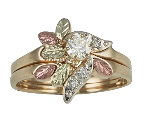 Black Hills Gold Jewelry 10KYG Diamond Set product image 3