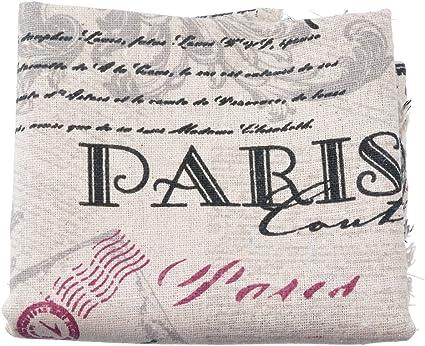 Souarts Bike Linen Fabric Bundles Quilting Sewing Patchwork Clothes DIY Craft 1 Sheet