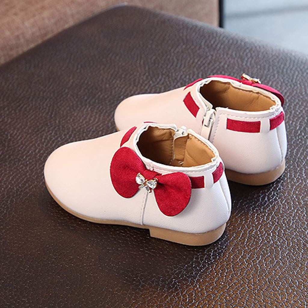 Toddler Winter Boots Side Zipper Kids Girls Chelsea Walking Shoes Casual Ankle Booties