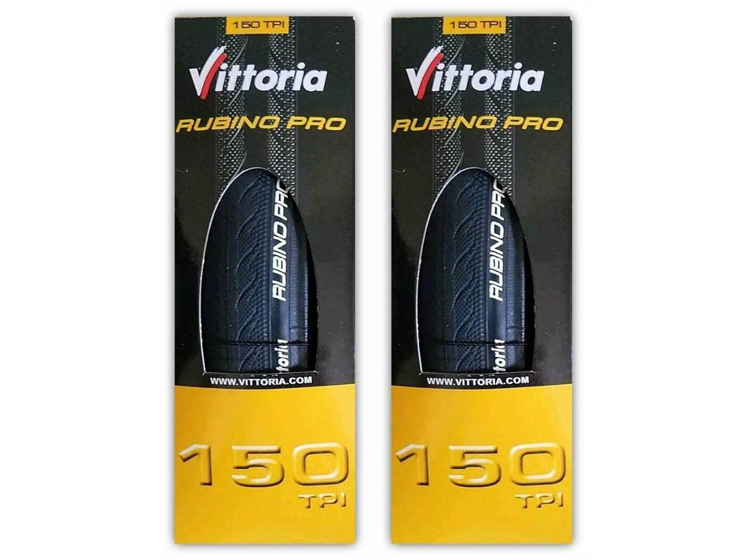 Vittoria Rubino Pro III 700x23c Black Road Bike Tire Bundle - PAIR (2 TIRES)