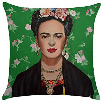 Amazon.com: JLHua Frida Kahlo Funda de almohada de lino y ...