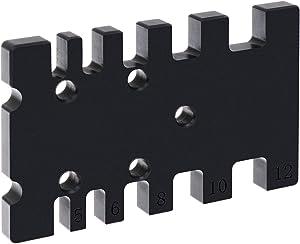PIAOPIAONIU Woodworking General Tools Portable Measuring Jig,Furniture Building & Cabinet Making Box Joint & Beehive Jig Measuring Card Gaps Gauge Ruler Precision Tool
