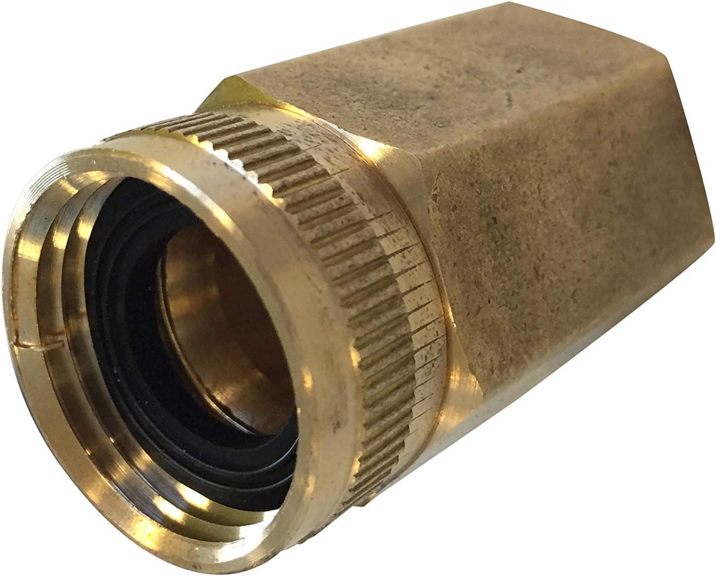 "Sun Joe SPX-BSCXL Dual Swivel 2"" X-Large Brass Connector 3/4-in x 3/4-in, Fits SPX pressure washer series"