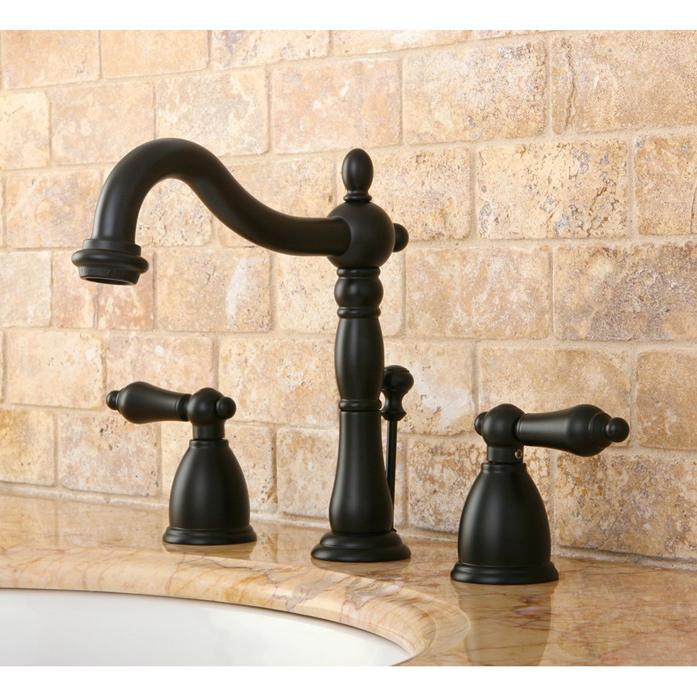 Kingston Brass KB1975AL Heritage Widespread Lavatory Faucet with ...