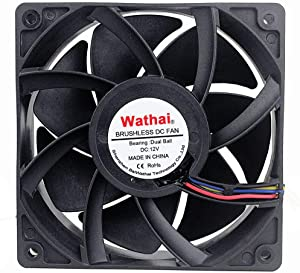Wathai 12038 120mm x 38mm 5300rpm High Airflow 12V 4pin FG PWM DC Brushless Cooling Fan