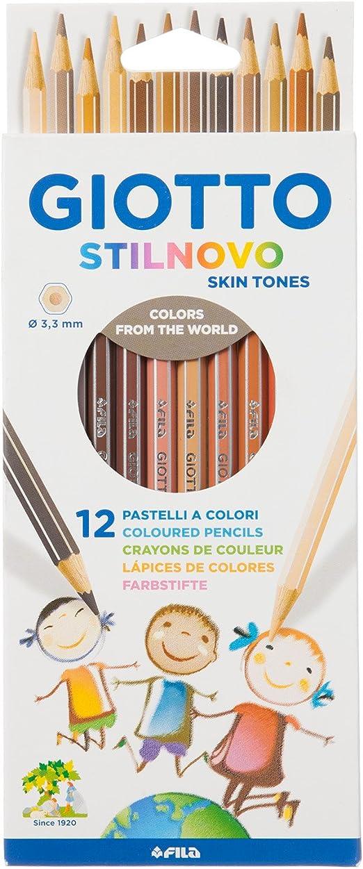 Giotto 255700 crayons de couleur Lot de 12 256500