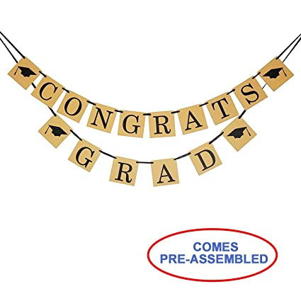 amazon com congrats grad banner sign perfect graduation