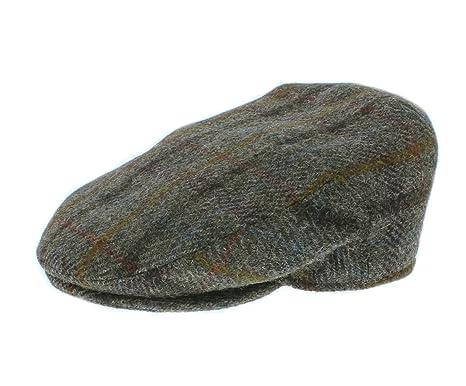 e339496b09e Failsworth Harris Tweed  Stornoway  Flat Cap Green Brown Check Pattern 5090  ...
