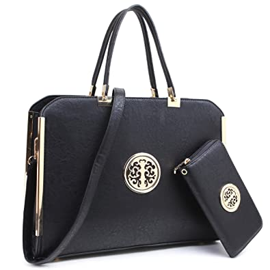 b7a0265aaeea Mmk Collection Women Fashion Matching Satchel  Tote Handbags with Walle(6417 )T~Designer Purse with Wristlet Wallet By Marco M. Kelly  Amazon.in  Shoes    ...
