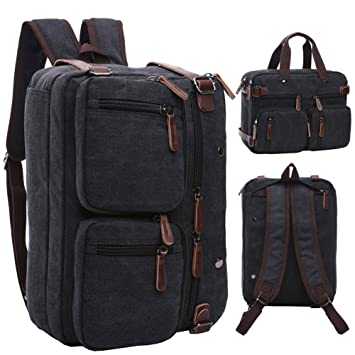 Amazon.com: Mygreen Convertible Laptop Messenger Bag Backpack ...