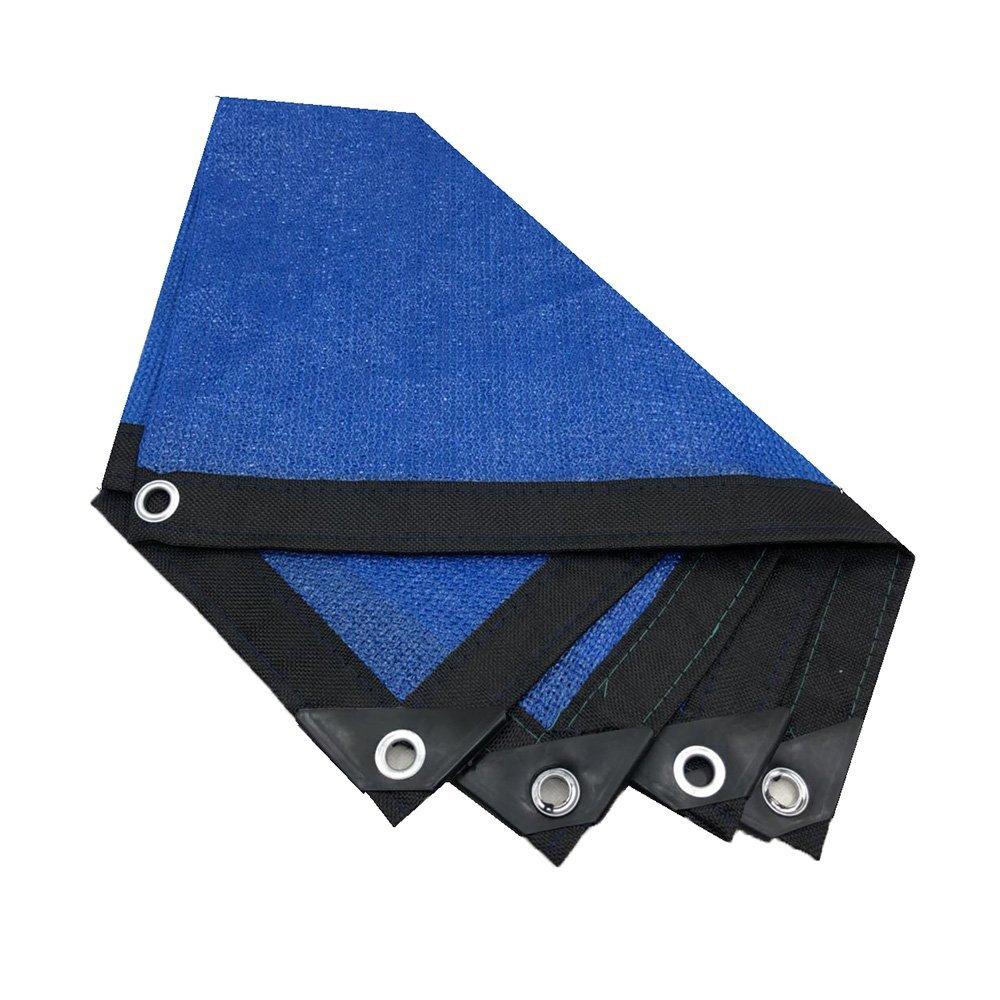 SEBAS Home Tenda Esterna Rete ombreggiante, Rete ombreggiatura 8 Pin criptazione Balcone Giardino Fiore verde Protezione Solare Rete Isolante, Blu (Colore   A, Dimensione   8m8m)