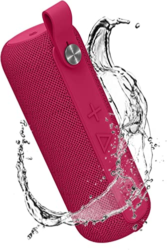 Portable Bluetooth Speaker, Wireless Speaker Bluetooth 5.0, HD Stereo Sound, 12W Driver, Rich Bass, Built-in Mic, 100ft Bluetooth Range, 14-Hour Playtime, IPX5 Waterproof, Camping, Beach