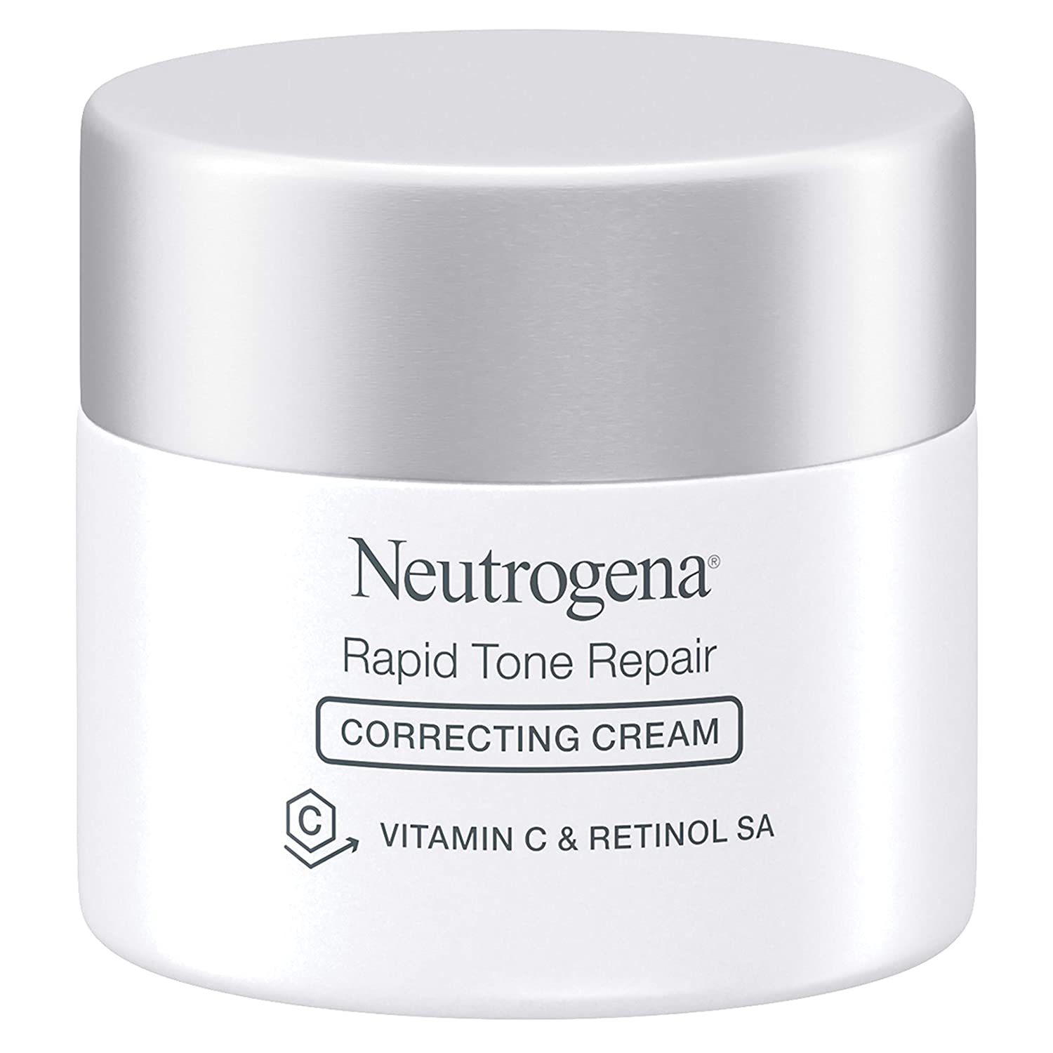 Neutrogena Rapid Tone Repair Face Moisturizer with Retinol SA, Vitamin C, Hyaluronic Acid and SPF 30 Sunscreen, Tone-Evening & Brightening Retinol Facial Moisturizer Cream