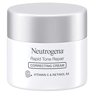 Neutrogena Rapid Tone Repair Face Moisturizer with Retinol SA, Vitamin C, Hyaluronic Acid and SPF 30 Sunscreen, Tone-Evening & Brightening Retinol Facial Moisturizer Cream