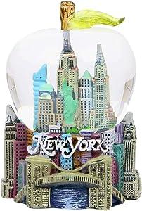 New York City Snow Globe Apple Leaf 2.5 Inch NYC Snow Globe
