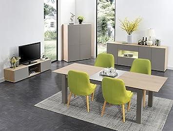 Salotto Soggiorno completo - Tavolo con 4 sedie - Buffet - Mobile ...