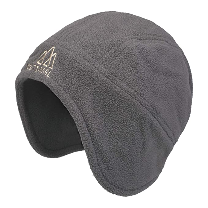 47e52e5d6f4 Zeltauto Men s Winter Peruvian Earflap Beanie Hat (Grey)  Amazon.co ...