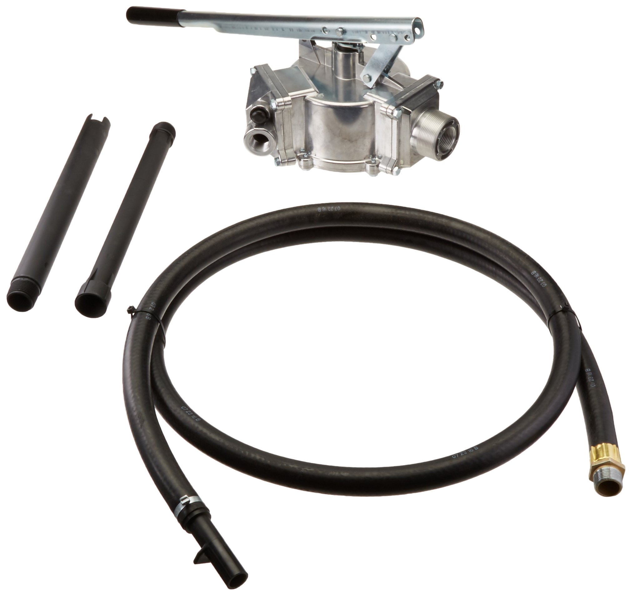 GPI 114000-5 Aluminum HP-100-NUL Hand Pump, 50 Gallons per 100 Strokes, 3/4'' Diameter 8' Hose